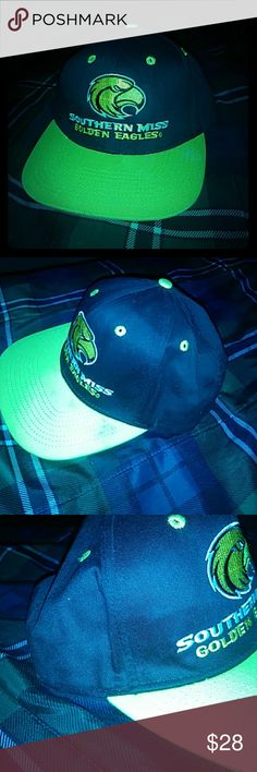 Golden Eagles hat Black,Yellow, and white Southern Miss Golden Eagle SnapBack hat. Nike MLB Accessories Hats