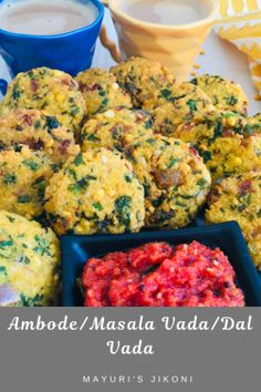 Ambode or Masala Vada are delicious spicy fritters made from split chickpea lent. - Ambode or Masala Vada are delicious spicy fritters made from split chickpea lentils spices and frie - Vegetarian Platter, Vegetarian Recipes, Healthy Recipes, Delicious Recipes, Legumes Recipe, Tea Time Snacks, Unique Recipes, Amazing Recipes, Keto Friendly Desserts