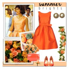 """""""Summer Brights"""" by dezaval ❤ liked on Polyvore featuring P.A.R.O.S.H., Ted Baker, Distinctive Designs, Rocio, Chanel and summerbrights"""