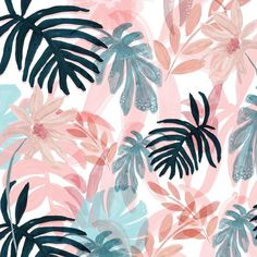 More pinks & blues inspired by this evenings sky #pattern #patterndesign #surfacepattern #surfacedesign #illustration #floral #flowers #watercolour #makers #makersmovement #makersgonnamake #handmade #handmadewithlove #print #spring #summer #pink #plants #botanical #tropical #chloehallillustration by chloehallillustration