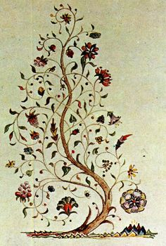 One of the greatest influences on Tolkien was the polymath William Morris. Tolkien wished to imitate Morris's prose and poetry romances, and his illustrations to his own works show the influence of the Arts and Crafts movement. (Illustration - Tolkien's tree of Amalion)