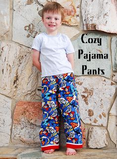 Tutorial for how to make pajama pants using some of your child's pants as a pattern guide. YES! shwinandshwin.blogspot.com