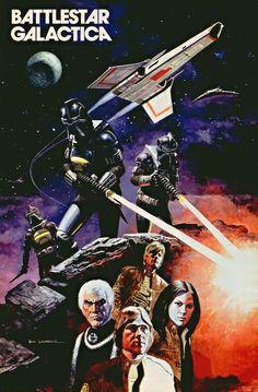 A3 SIZE BATTLESTAR GALACTICA 1 //// American Science Fiction SERIES ART POSTER