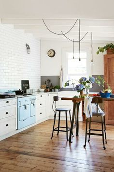 Kitchen Lights / via Wit and Delight