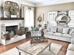 Living Room - Bless This Nest Farmhouse Living Room. Fixer Upper Style