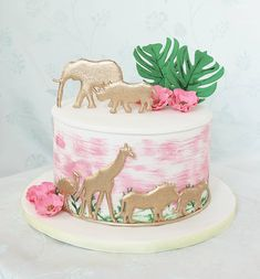 2nd Birthday Party For Girl, Second Birthday Ideas, Girl Birthday Themes, Safari Birthday Cakes, Safari Cakes, First Birthday Cakes, Smash Cake Girl, Party Party, Party Ideas