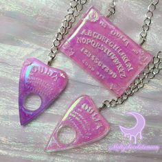 Ouija Board and Pointer Pastel Necklace on Storenvy Pastel Goth Outfits, Pastel Punk, Witch Aesthetic, Pink Aesthetic, Kawaii Accessories, Jewelry Accessories, Cute Jewelry, Body Jewelry, Jewellery