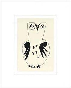 Eule von Künstler Pablo Picasso als gerahmtes Bild