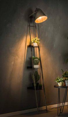 Plank, Ladder Decor, Living Room, Lighting, House Styles, Home Decor, Decoration Home, Room Decor, Home Living Room