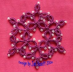 To Do: Learn how to tat....I love this beaded snowflake, tatting with beads added!