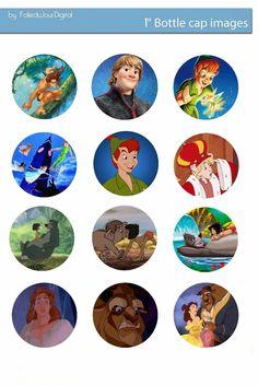 Folie du Jour Bottle Cap Images: Disney heroes free digital bottle cap images