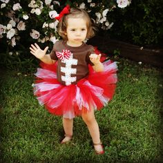 Customize Football baby onesie or Tshirt and tutu by Layne2010