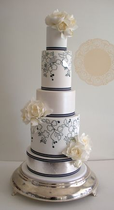 "Faye Cahill Cake Design ""love birds"" variation"