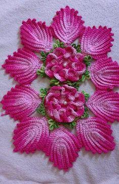 Best 12 brazilian embroidery for beginners Crochet Table Runner Pattern, Crochet Flower Patterns, Crochet Tablecloth, Crochet Flowers, Brazilian Embroidery Stitches, Ribbon Embroidery, Embroidery Patterns, Local Embroidery, Embroidery Supplies