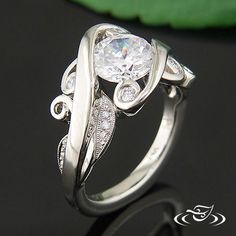 WIDE AND SWIRLY ENGAGEMENT RING
