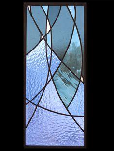 Panel de vidrio de estrellas azul