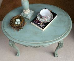 Annie  Sloan Duck Egg  Blue chalk  paint with clear and dark wax