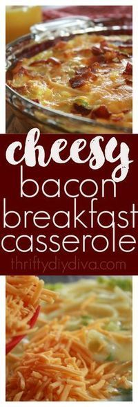 This Bacon, Egg, Cheese and Hashbrown Breakfast Casserole recipe will make you feel as if you baked a quiche, but is actually quite easier and just as delicious! Add this to your breakfast recipes board! A great Christmas, Thanksgiving, Easter morning breakfast recipe idea!