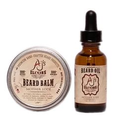 Beard Care Combo - Beard Balm and Beard Oil - AJ's Elixirs