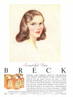 Breck defined an iconic look for women in this 1954 advertising.