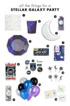 Ideas diy art galaxy outer space for 2019 6th Birthday Parties, 2nd Birthday, Birthday Ideas, Outer Space Party, Galaxy Theme, Moon Party, Quinceanera Party, Unicorn Party, Birthday Party Decorations