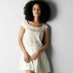 Nwot Cream Lace American Eagle Dress