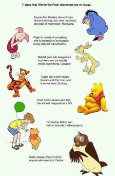 The Winnie the Pooh characters are on drugs