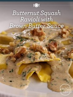 Looking for the perfect Fall recipe? This Butternut Squash Ravioli with Brown Butter Sauce is perfect for a crisp, Autumn night.