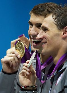 Michael Phelps and Ryan Lochte 200IM medals