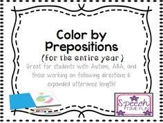 Color By Preposition