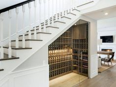 A wine cellar under the staircase
