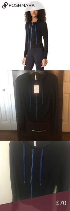 """NWT Free People movement hoodie!💖 Free People movement hoodie! Super cute hoodie with great features, including long sleeves with adjustable cinch-cord cuffs! The sides are also adjustable and the hood has a great drawstring! 20"""" length. 97% cotton, 3% spandex. 💖 Free People Tops Sweatshirts & Hoodies"""