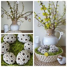 velikonoční dekorace Idee Diy, Egg Art, Craft Patterns, Happy Day, Easter Crafts, Happy Easter, Easter Eggs, Projects To Try, Xmas