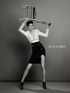 Stella Tennant for Altuzarra Fall/Winter 2013/2014 Campaign | The Fashionography