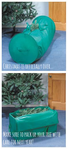 Storage Tip: Use a Christmas Tree Storage Bag to safely store your tree until next year!