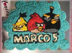 Pastel personalizado de Cupcakes Angry Birds #Honiesbakery