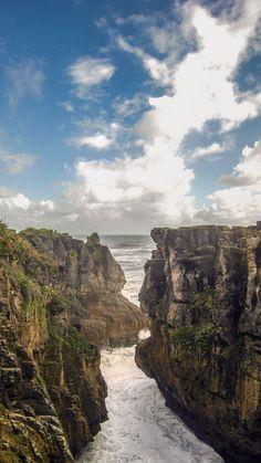 Pancake rocks, Punakaiki, New Zealand.