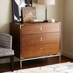 Malone Campaign 3-Drawer Dresser - Walnut | west elm