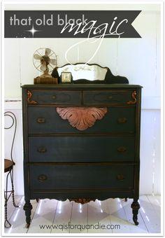 that old black magic. – q is for quandie Refurbished Furniture, Repurposed Furniture, Rustic Furniture, Furniture Makeover, Antique Furniture, Home Furniture, Outdoor Furniture, Furniture Design, Geek Furniture