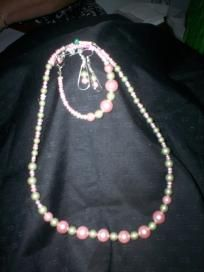 Handmade Necklace, Bracelet and Earring Set Free Shipping S3