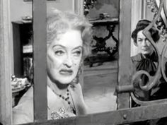 """Bette Davis and Joan Crawford in, """"Whatever happened to Baby Jane?"""" - Love this movie!"""