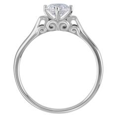 Sophia Lutece  - Item Number: R664<br>Platinum<br>.50-2.00 ct<br>Stone Count: 1