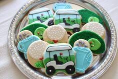 Golf Cookies  (1 dozen) on Etsy, $36.00