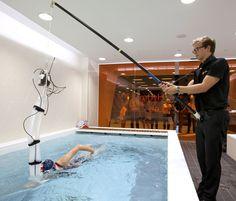 Lauren Steadman in the swim flume at GSK Human Performance Lab