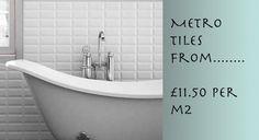 Great Qulity Metro Tiles from as little as £13.50 Inc Vat.   http://www.entirelytiles.co.uk/metro-white-10x20/