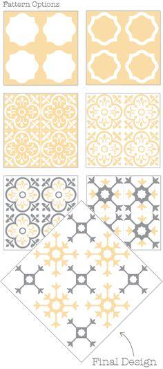 floor stencil pattern
