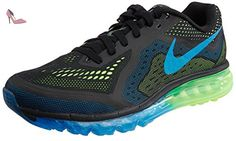 Nike Air Max 2014, Chaussures de running homme - Multicolore (Blk/Pht Bl Elctrc Grn Flsh Lm), 45 EU - Chaussures nike (*Partner-Link)