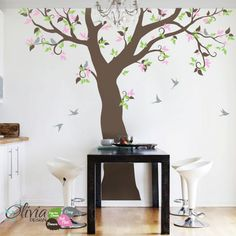 Large Forest Family Tree vinyl wall decal and by theOliviaDesign