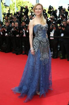 Nicole Kidman wearing Armani Prive at the 'Grace of Monaco' premiere