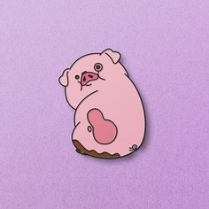 This 22mm Waddles soft enamel pin is a must-have for the Gravity Falls fan in your life. Limited run of 100, each is numbered.